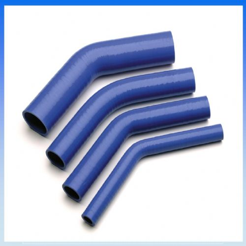 "90mm (3 1/2"") I.D BLUE 45° Degree SILICONE ELBOW HOSE PIPE"